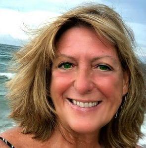 selfie of laura on the beach